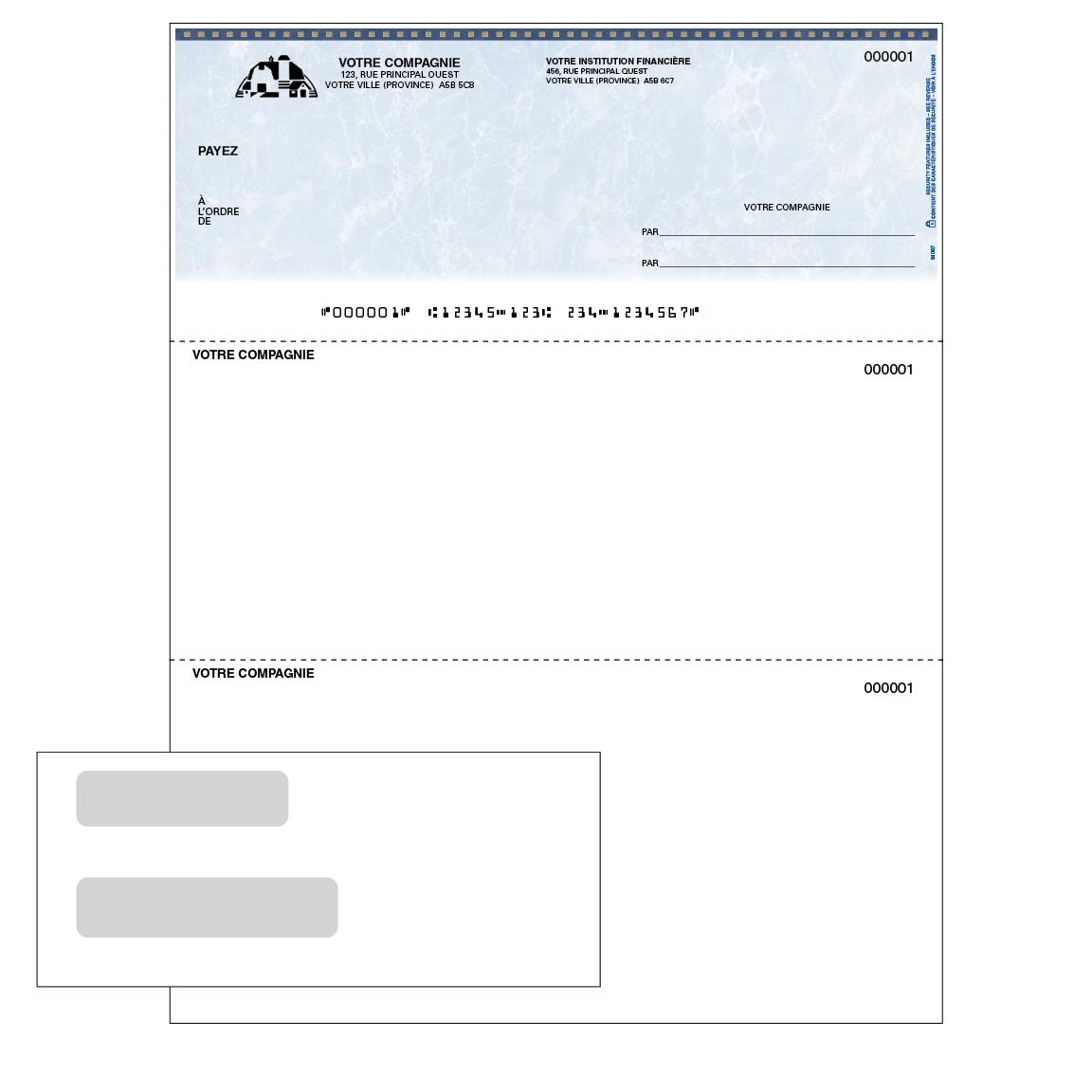 Trousse de démarrage – chèques