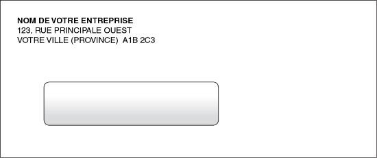 Enveloppe pour chèques informatiques