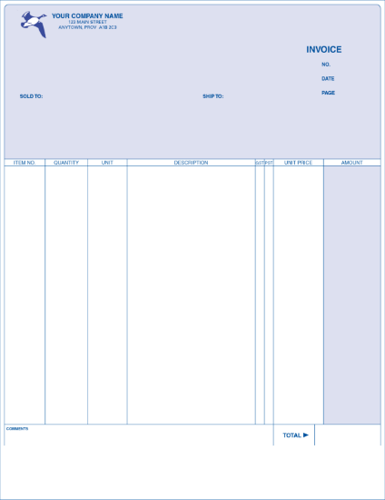 Invoice - Long Format
