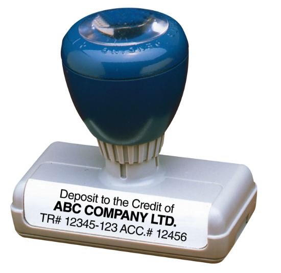 Self Inking Stamp - Deposit to the Credit of