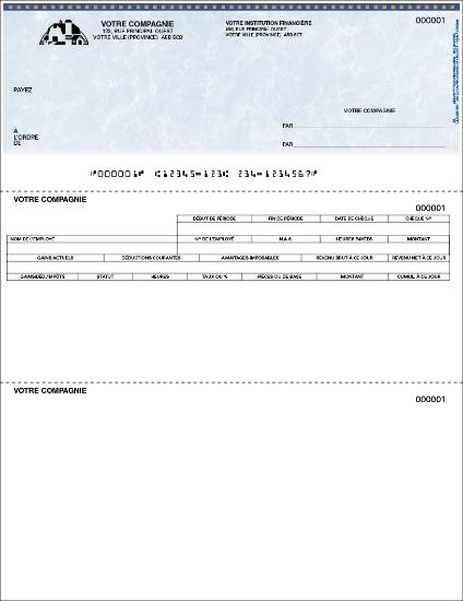 Chèque de paie