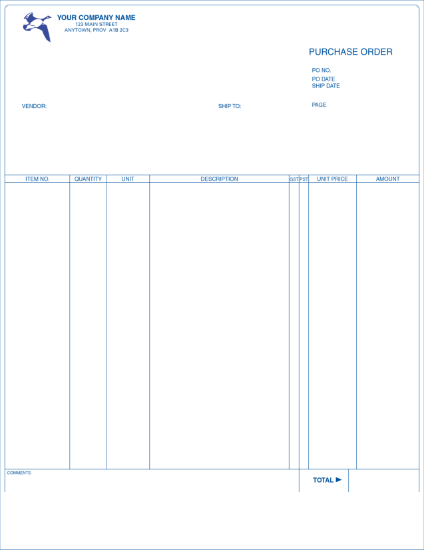 Purchase Order - Long Format