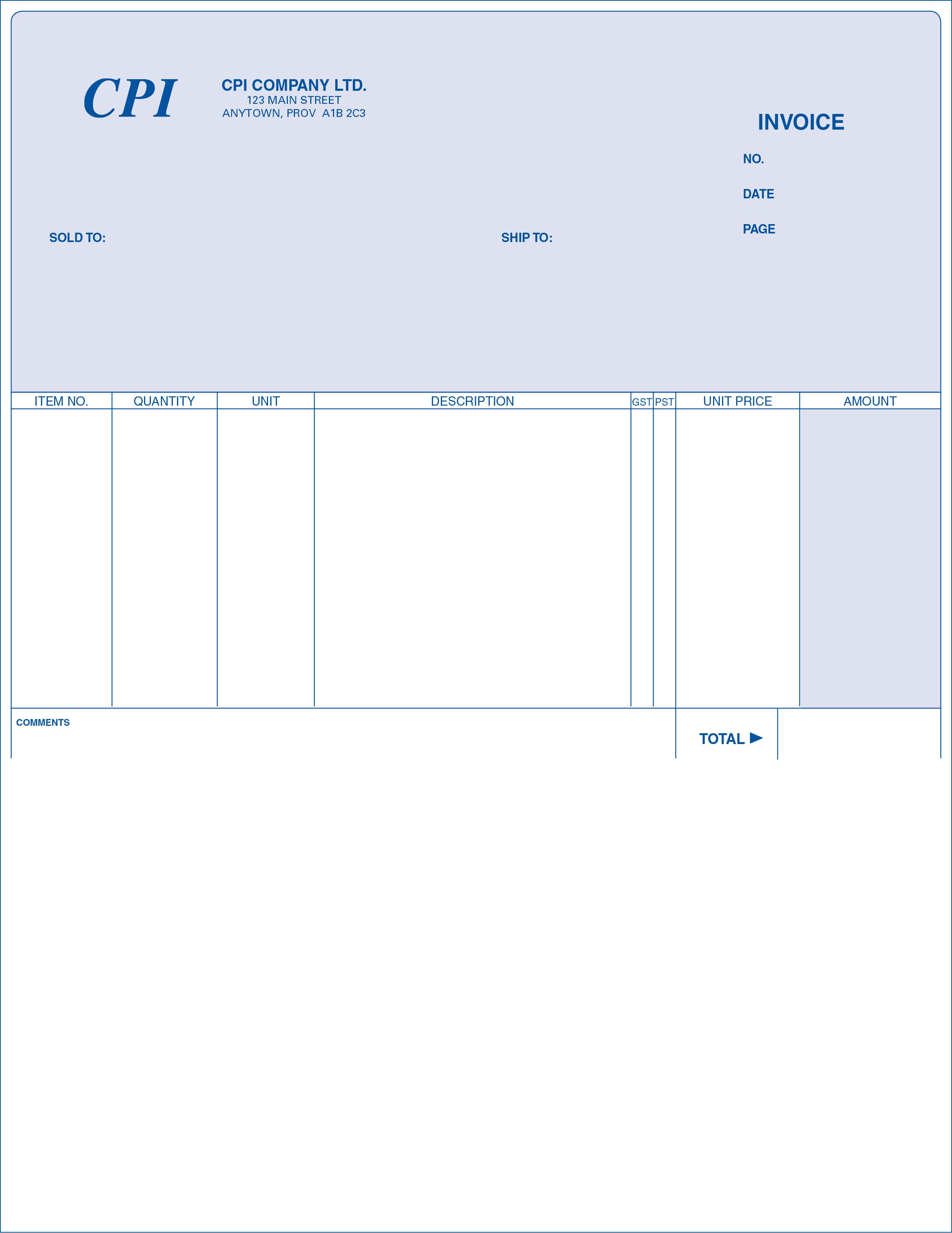 Invoice - Short Format