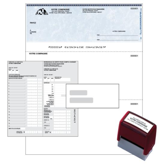 Trousse de chèques d'affaires L'Indispensable®